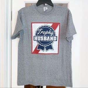 "Trophy Husband ""Pabst Blue Ribbon"" Graphic T"
